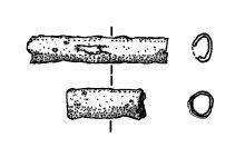 Blechröhrchen, Zier der Bronzezeit aus Grab 5 Blankenburg